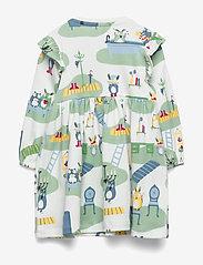 Polarn O. Pyret - Dress L/S AOP Baby - kleider - smoke green - 1