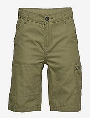 Polarn O. Pyret - Shorts woven solid School - shortsit - olivine - 0