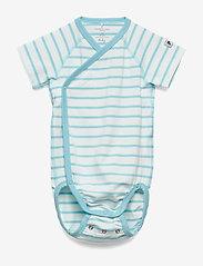 Polarn O. Pyret - Body Wrapover Striped Baby - lyhythihaiset - petit four - 0