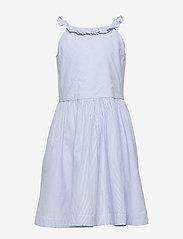 Polarn O. Pyret - Dress Woven w Frill School - mekot - snow white - 0