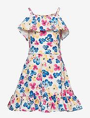 Polarn O. Pyret - Dress Jersey AOP School - mekot - snow white - 0