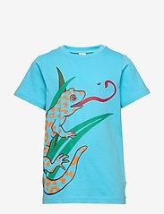Polarn O. Pyret - T-shirt frontprint s/s School - lyhythihaiset - bachelor button - 0