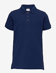 Polarn O. Pyret - Piké s/s solid School - pikeepaidat - medieval blue - 0