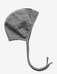 Polarn O. Pyret - Helemt Wool Solid Baby - hoed - greymelange - 0