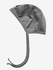 Polarn O. Pyret - Helemt Wool Solid Baby - hoed - greymelange - 1