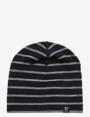 Polarn O. Pyret - Cap Wool Stripe Baby - hoeden & handschoenen - dark sapphire - 0