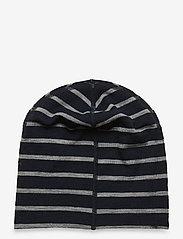 Polarn O. Pyret - Cap Wool Stripe Baby - hoeden & handschoenen - dark sapphire - 1