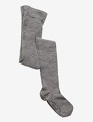 Polarn O. Pyret - Wool Tights Solid Preschool - strømpebukser - greymelange - 0
