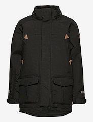 Polarn O. Pyret - Jacket Padded w Hood School - parkas - black - 2