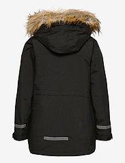 Polarn O. Pyret - Jacket Padded w Hood School - parkas - black - 3