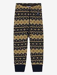 Polarn O. Pyret - Trousers Wool Jaquard Baby - joggingbroek - dark sapphire - 0