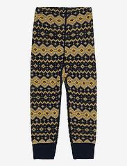 Polarn O. Pyret - Trousers Wool Jaquard Baby - joggingbroek - dark sapphire - 1