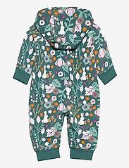 Polarn O. Pyret - Overall AOP Hood Baby - langärmelig - mallard green - 1