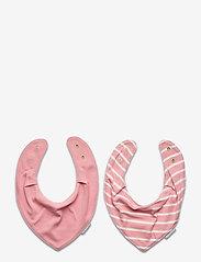 Polarn O. Pyret - BiB Striped Baby - slabbertjes - bridal rose - 1