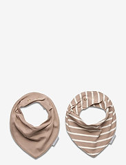 Polarn O. Pyret - BiB Striped Baby - slabbertjes - simply taupe - 0