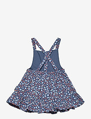 Polarn O. Pyret - Dungaree Dress AOP Preschool - jurken - ensign blue - 1