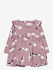 Polarn O. Pyret - Dress AOP Jersey Preschool - jurken - woodrose - 0