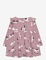 Polarn O. Pyret - Dress AOP Jersey Preschool - jurken - woodrose - 1