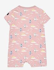 Polarn O. Pyret - Pyjamas Overall AOP Baby - kurzärmelig - pale mauve - 1