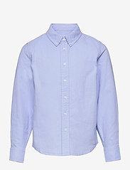 Polarn O. Pyret - Shirt Solid Oxford School - shirts - blue fog - 0