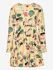Polarn O. Pyret - Dress AOP jersey Preschool - kleider - impala - 0