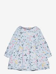 Polarn O. Pyret - Dress AOP jersey Preschool - kleider - blue fog - 0