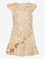 Polarn O. Pyret - Dress Woven AOP School - kleider - mother of pearl - 0