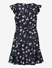 Polarn O. Pyret - Dress Woven AOP School - kleider - dark sapphire - 1