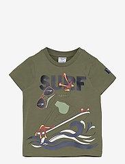 Polarn O. Pyret - T-shirt S/S front print Preschool - korte mouwen - olivine - 0