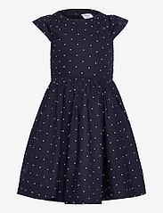 Polarn O. Pyret - Dress woven AOP School - kleider - dark sapphire - 0