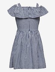 Polarn O. Pyret - Dress woven checked School - kleider - ensign blue - 1