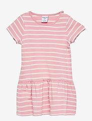 Polarn O. Pyret - Dress jersey striped s/s Preschool - kleider - bridal rose - 0