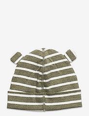 Polarn O. Pyret - Cap Striped Baby - babyhuer - green melange - 1