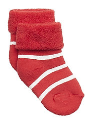 Polarn O. Pyret Sock Full Terry PO.P Stripe Newborn - SKI PATROL