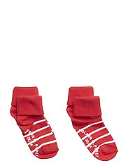 Socks 2-P Turn-up Anti Slip PO.P Stripe Baby - SKI PATROL