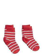 Polarn O. Pyret Socks 2-P PO.P Stripe Baby - SKI PATROL