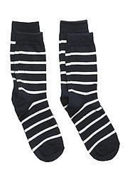 Socks 2-P PO.P Stripe - DARK SAPPHIRE