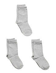 Socks 3-P Solid Preschool - GREYMELANGE