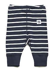 Long Johns PO.P Stripe Newborn - DARK SAPPHIRE