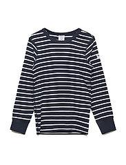 T-shirt l/s PO.P Stripe - DARK SAPPHIRE