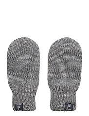 Double-knit wool mittens for newborn - GREYMELANGE