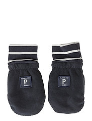 Polarn O. Pyret Wind Fleece Mitten Solid/PO.P Stripe Baby