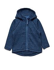 Zip Up Fleece Solid Baby - DARK SAPPHIRE