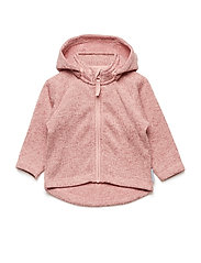 Zip Up Fleece Solid Baby - MELLOW ROSE