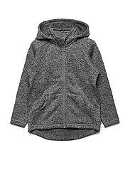 Zip Up Fleece Solid PreSchool - GREYMELANGE