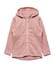 Zip Up Fleece Solid PreSchool - MELLOW ROSE