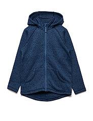 Zip Up Fleece Solid School - DARK SAPPHIRE