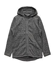 Zip Up Fleece Solid School - GREYMELANGE