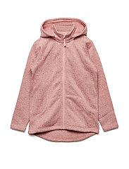 Zip Up Fleece Solid School - MELLOW ROSE