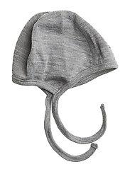 Helmet Wool Solid Newborn - GREYMELANGE